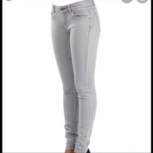 """Michael kors grey 9"""" rise skinny jean"""